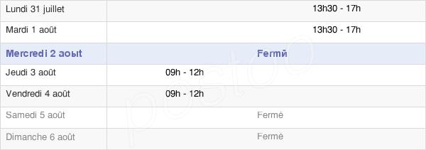 horaires d'ouverture de la Mairie De Saint-Saviol