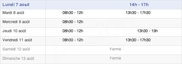 horaires d'ouverture de la Mairie De Saint-Cyr
