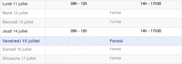 horaires d'ouverture de la Mairie De Saint-Léger-De-Montbrillais