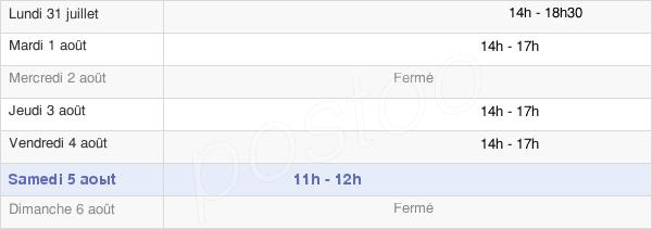 horaires d'ouverture de la Mairie De Bournand