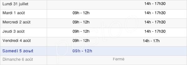 horaires d'ouverture de la Mairie D'Archigny