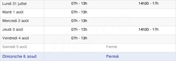 horaires d'ouverture de la Mairie De Rivière-Salée