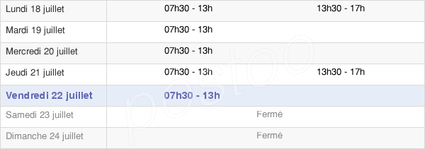 horaires d'ouverture de la Mairie De Saint-Pierre