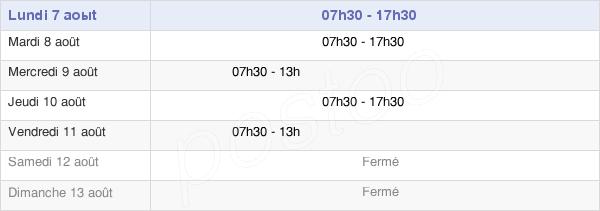 horaires d'ouverture de la Mairie De Gros Morne