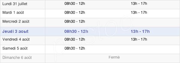 horaires d'ouverture de la Mairie D'Yenne
