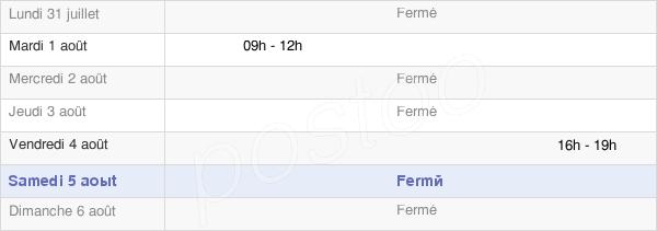 horaires d'ouverture de la Mairie Des Déserts