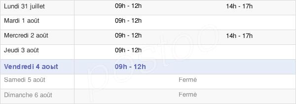 horaires d'ouverture de la Mairie De Saint Remy De Maurienne