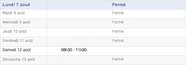 horaires d'ouverture de la Mairie De Drumettaz-Clarafond