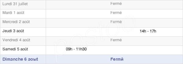 horaires d'ouverture de la Mairie De Hermelange