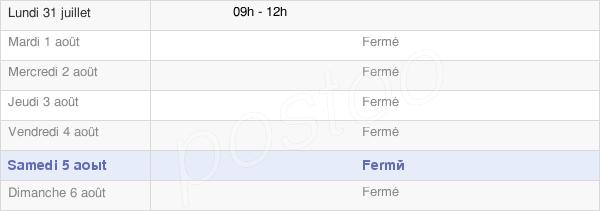 horaires d'ouverture de la Mairie De Champ Laurent