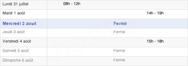 horaires d'ouverture de la Mairie D'Aillon-Le-Vieux