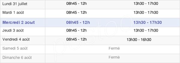 horaires d'ouverture de la Mairie De Montvalezan