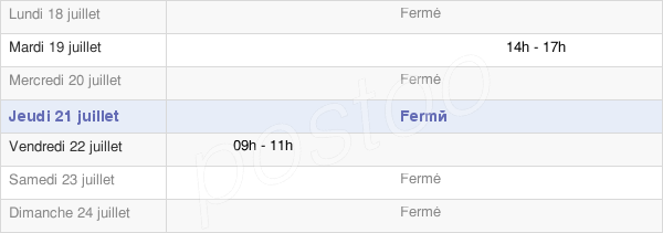 horaires d'ouverture de la Mairie De Montgilbert