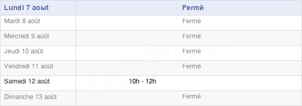 horaires d'ouverture de la Mairie De Puttelange-Aux-Lacs