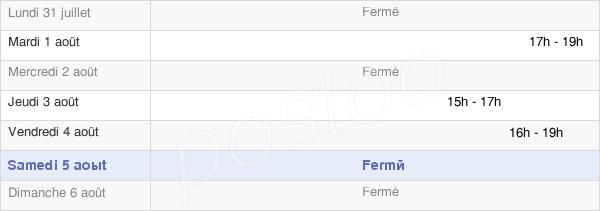 horaires d'ouverture de la Mairie De Francin
