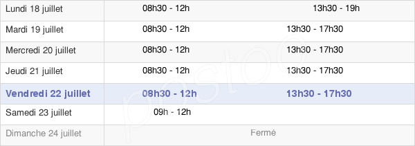 horaires d'ouverture de la Mairie De Bassens
