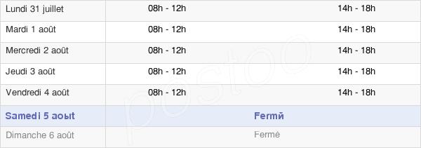 horaires d'ouverture de la Mairie De Champagny-En-Vanoise