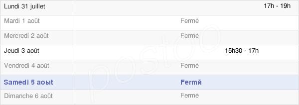horaires d'ouverture de la Mairie De Villaroux