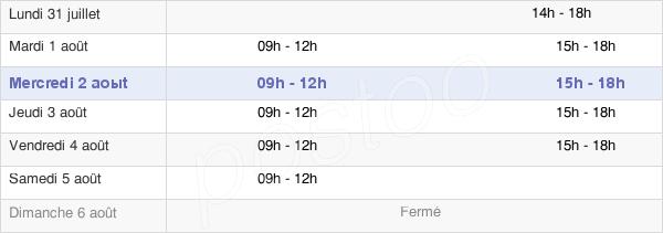 horaires d'ouverture de la Mairie De Saint-Alban-Leysse
