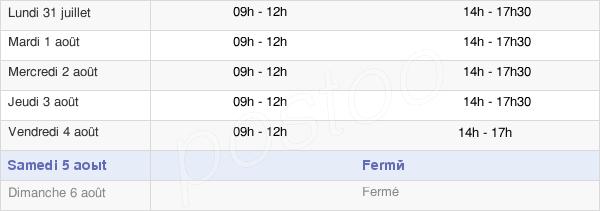 horaires d'ouverture de la Mairie De Saint-Marcel