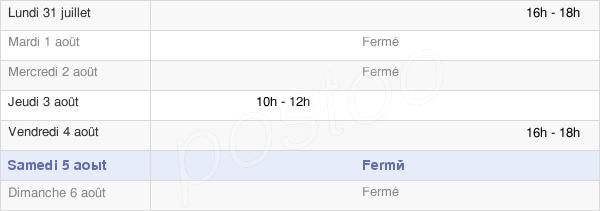 horaires d'ouverture de la Mairie De Feissons-Sur-Isère