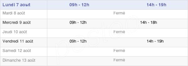 horaires d'ouverture de la Mairie De Sainte-Hélène-Sur-Isère