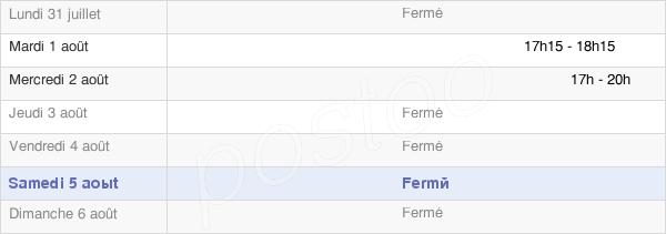 horaires d'ouverture de la Mairie De Detrier