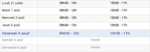 horaires d'ouverture de la Mairie De La Léchère