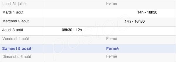 horaires d'ouverture de la Mairie De Montagnole