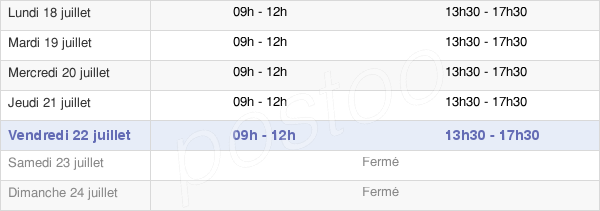 horaires d'ouverture de la Mairie De Fontcouverte-La-Toussuire