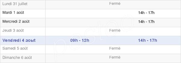 horaires d'ouverture de la Mairie De La Côte-D'Aime