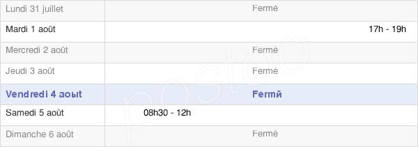 horaires d'ouverture de la Mairie De Saint Cassin