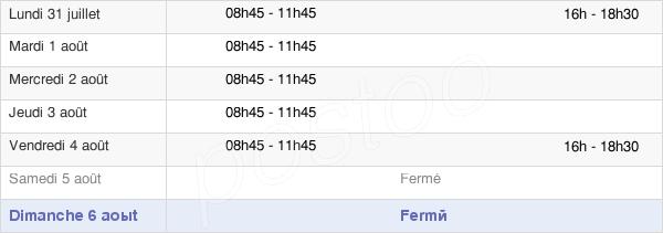 horaires d'ouverture de la Mairie De Voglans