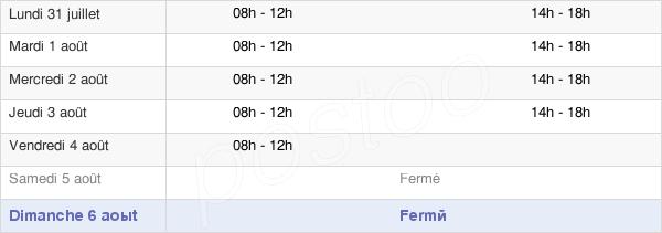 horaires d'ouverture de la Mairie D'Aix-Les-Bains