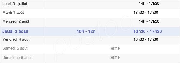 horaires d'ouverture de la Mairie De Tours-En-Savoie