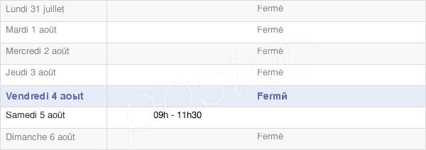 horaires d'ouverture de la Mairie De Saint-Baldoph
