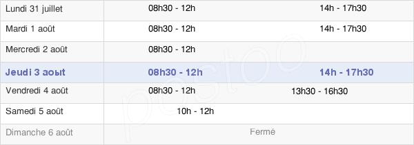 horaires d'ouverture de la Mairie De Séez