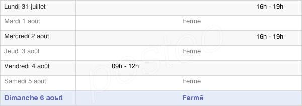 horaires d'ouverture de la Mairie De Chignin