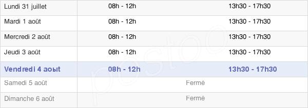 horaires d'ouverture de la Mairie De Saint Martin De Belleville