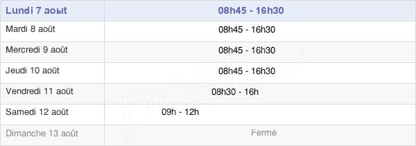 horaires d'ouverture de la Mairie De Villenave-D'Ornon