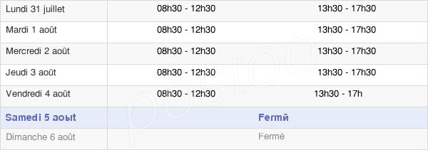 horaires d'ouverture de la Mairie De Saint-Denis-De-Pile