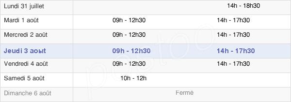 horaires d'ouverture de la Mairie Du Taillan-Médoc