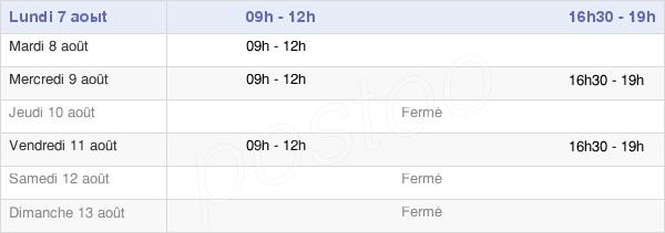 horaires d'ouverture de la Mairie De Peltre