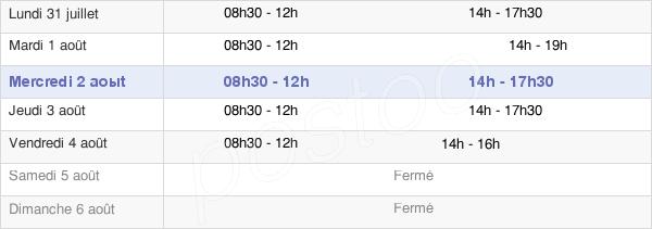 horaires d'ouverture de la Mairie De Léognan