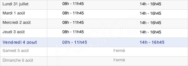 horaires d'ouverture de la Mairie De Sainte-Marie-Aux-Chênes