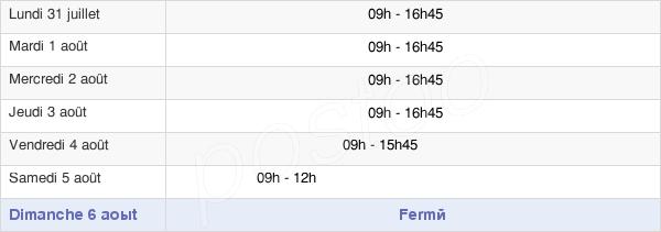 horaires d'ouverture de la Mairie D'Audenge