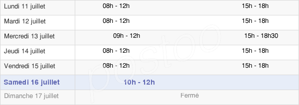 horaires d'ouverture de la Mairie De Ludon-Médoc