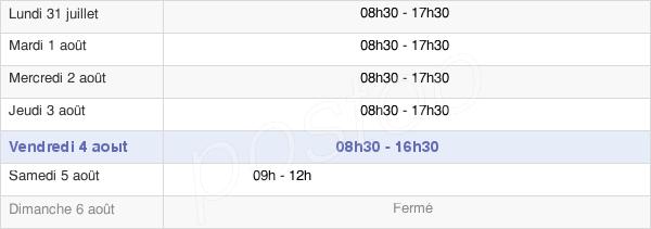 horaires d'ouverture de la Mairie De Lège-Cap-Ferret
