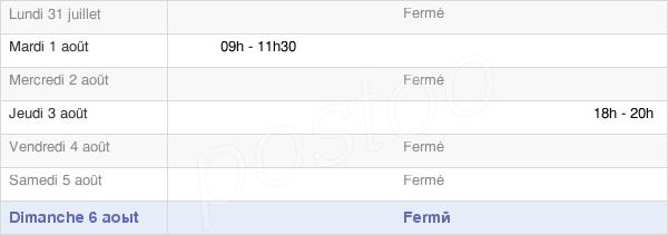 horaires d'ouverture de la Mairie De Villers-Stoncourt