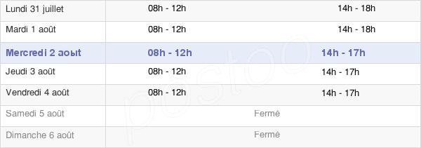 horaires d'ouverture de la Mairie De Stiring-Wendel